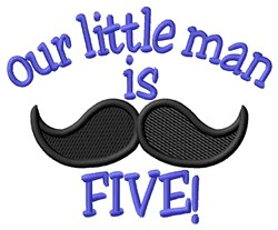 Little Man Is Five embroidery design