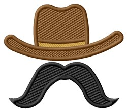 Moustached Cowboy embroidery design
