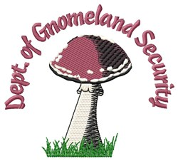 Gnomeland Security embroidery design