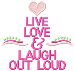 Out Loud embroidery design