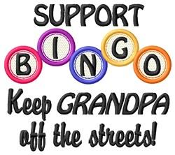 Bingo Grandpa embroidery design