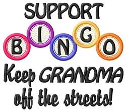Bingo Grandma embroidery design