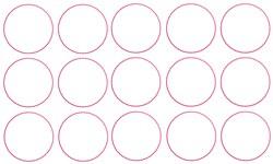 Bingo Circles Outline embroidery design