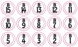 Bingo Numbers embroidery design