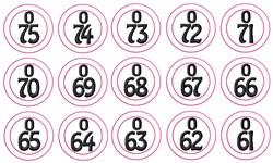 Bingo O Numbers embroidery design
