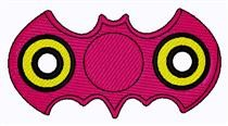Bat Fidget Spinner embroidery design
