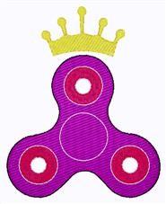 Crown Fidget Spinner embroidery design