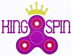 King Spin embroidery design
