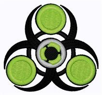 Green & Black Spinner embroidery design