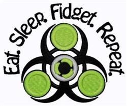 Eat Sleep Fidget embroidery design