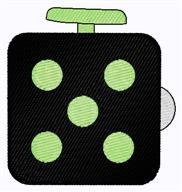 Fidget Cube embroidery design
