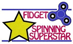 Fidget Spinning Superstar embroidery design