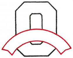 Athletic Banner O embroidery design