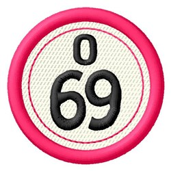 Bingo O69 embroidery design