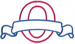 Applique Banner O embroidery design