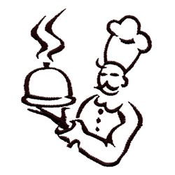 Chef Outline embroidery design