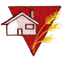 Wheat Farmers Logo embroidery design