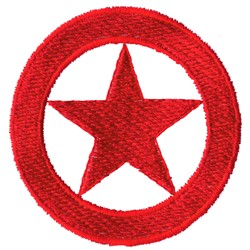 Star Badge embroidery design