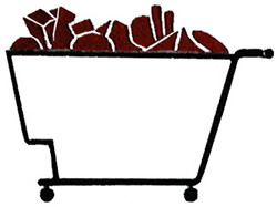 Grocery Cart embroidery design