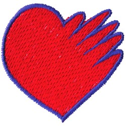 Hand and Heart embroidery design