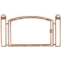 Fence Outline embroidery design