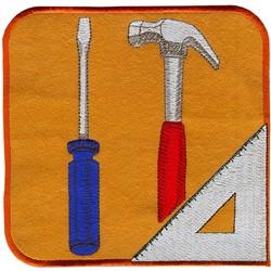 Applique Carpentry Logo embroidery design