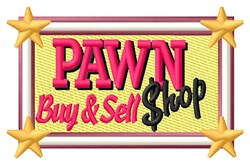 Pawn Shop Filled Sign embroidery design