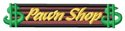 Pawn Shop Dollars embroidery design