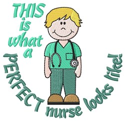 Perfect Nurse embroidery design