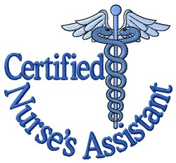 Certified Nurses Assistant embroidery design
