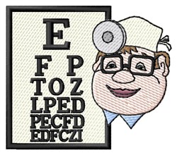 Eye Chart embroidery design