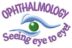 Eye to Eye embroidery design