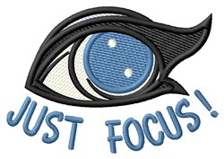 Just Focus embroidery design