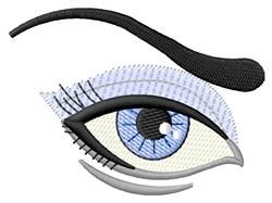 Eye & Brow embroidery design