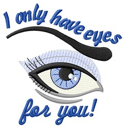 Eyes For You embroidery design