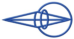 Eye Lens embroidery design