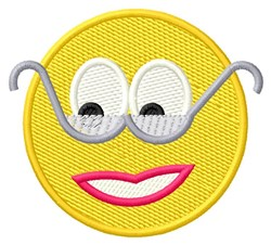 Smiley embroidery design