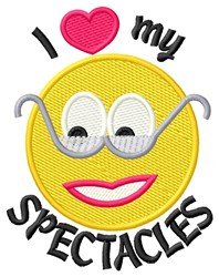 I Love Spectacles embroidery design