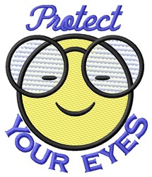 Protect Your Eyes embroidery design