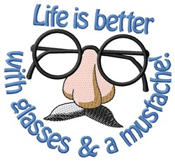 Life is Better embroidery design