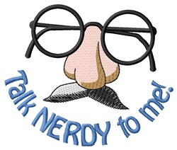 Talk Nerdy embroidery design