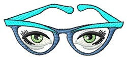 Glasses & Eyes embroidery design