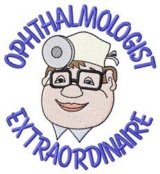 Ophthalmologist embroidery design