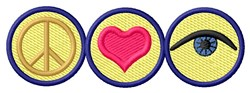 Peace Love embroidery design