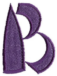 Oriental B embroidery design