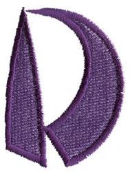 Oriental D embroidery design