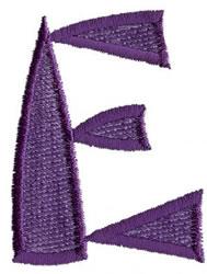 Oriental E embroidery design