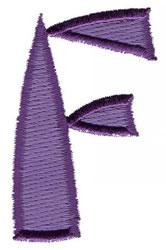 Oriental F embroidery design
