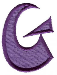 Oriental G embroidery design