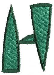 Oriental H embroidery design